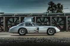Mercedes-Benz 300 SLR, photographed at Mercedes-Benz Stuttgart-Unterturkheim test track, Germany, for Motor Sport magazine
