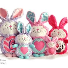 Bunny Rabbit Embroidery Machine Pattern In The Hoop Easter Soft Toy | DollsAndDaydreams