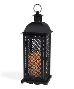 Loving this Black Venetian Gothic Short Lantern & Flameless Candle on #zulily! #zulilyfinds