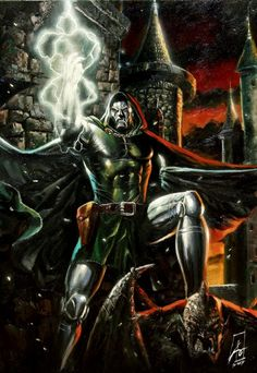 Dr. Doom by Rudy Ao Comic Art Auction your comics on http://www.comicbazaar.co.uk