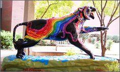 "Tigers Around Town, University of Memphis - 1943 ""Cat Pride"" by Tara Browning"