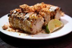 Clambake Style LA Sreet Corn w/ Linguica Powder & Lemon-Clam Aioli - Chef Samuel Monsour