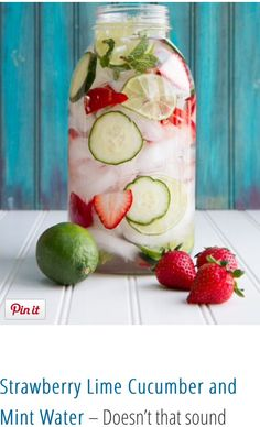 Strawberry cucumber fused water