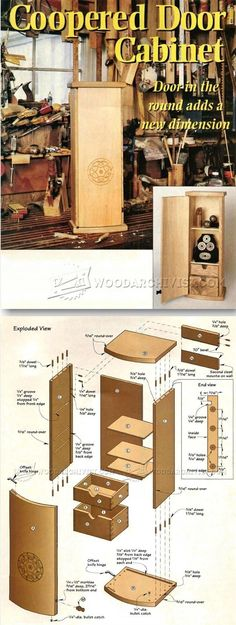 Coopered Door Cabinet Plans - Furniture Plans and Projects   WoodArchivist.com