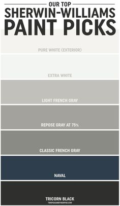 Our Favorite Paint Colors on twopeasandtheirpod.com Use these tips to pick out the perfect paint colors for your home!