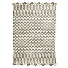 Zig Cotton Dhurrie in Fog - Serena & Lily - $195 - domino.com