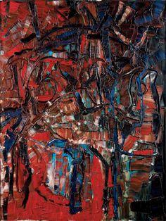 Jean-paul riopelle / Jean-paul riopelle (1923-2002) écarlate, 1968 huile sur toile signée en bas vers la droite 129 x 97