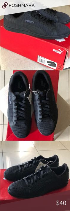a945c5495aac02 🆕✨Black Puma Smash Knit C Brand New in Box Puma Shoes Sneakers