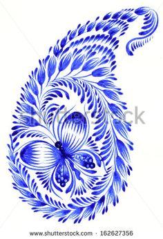 Hand Drawn Illustration In Ukrainian Folk Style Fotografie, snímky a obrázky | Shutterstock