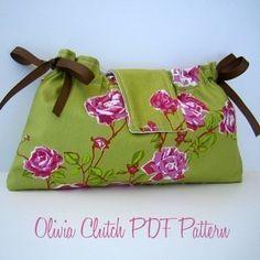 Tutorial y patrón de costura Olivia Clutch PDF por alifoster