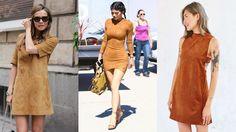 suede o tecido tendência do momento vestido