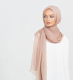 Dusty Pink Maxi Silk Chiffon Hijab - £24.99 : Inayah, Islamic Clothing & Fashion, Abayas, Jilbabs, Hijabs, Jalabiyas & Hijab Pins