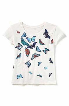 Peek Butterfly Graphic Tee (Toddler Girls, Little Girls & Big Girls)