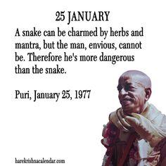 Srila Prabhupada Quote for 25 Jan 2014 Krishna Love, Hare Krishna, Religious Quotes, Spiritual Quotes, January Quotes, Autobiography Of A Yogi, Full Quote, Srila Prabhupada, Vedic Mantras