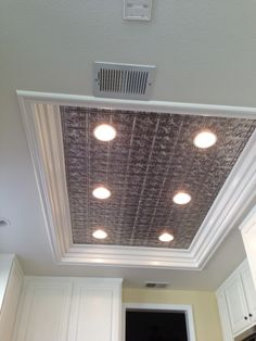 remodel flourescent light box in kitchen | We also replaced the fluorescent kitchen light box with ceiling tiles ...