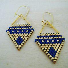PRIX ROND - Boucles d'oreilles tissées main - modèle Cassy : Boucles d'oreille par c-creation-de-bijoux