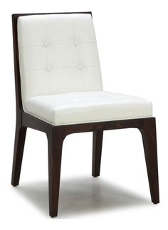 Leather Dining Kitchen Chairs :: SR-75922 Low Back Tufted Chair - ARTeFAC USA