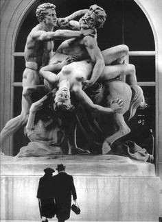 'Le Combat du Centaure' by Robert Doisneau. At the Mairie du VIe arrondissement, Paris.