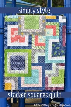 Free Quilt Pattern and Tutorial - Simply Style Stacked Squares Quilt
