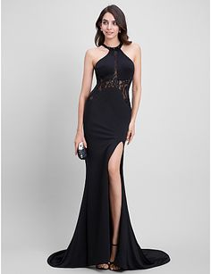 6bf1ce41ff80e TS Couture® Formal Evening Dress Trumpet / Mermaid Jewel Sweep / Brush  Train… Evening