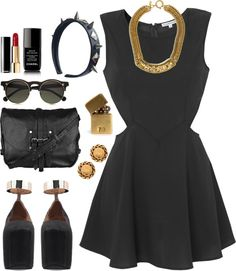 """""""~ LITTLE BLACK DRESS APPROVED"""" by dope-itsunique ❤ liked on Polyvore"""