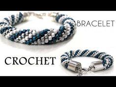 Ideias de enrolamento - Crochet Bracelet (Video Tutorial) - Lifestylevideos