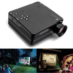 H80 Mini LED Projector For Home TV VGA HDMI Support 1080P
