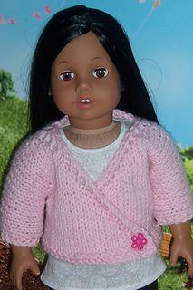 18 inch doll kimono top, free knit pattern