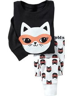 Masked-Cat PJ Set