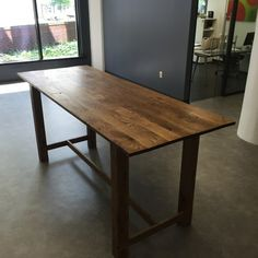 Bistro height community table for office kitchen