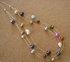 How to Step Down a Multistrand Illusion Necklace using crimps and crimp covers - The Beading Gem's Journal