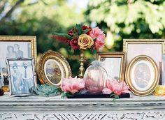 A memorial table for guests to walk by and remember is always a classic and great idea.