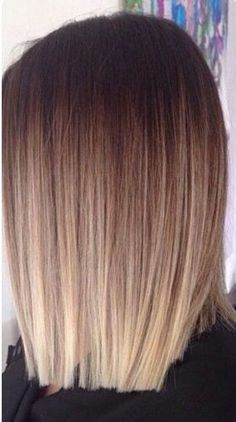 hair looks color - hair looks . hair looks hairstyles . hair looks color . hair looks medium . hair looks 2020 . hair looks hairstyles medium lengths . hair looks for prom . hair looks curly Hair Color And Cut, Ombre Hair Color, Ombre Bob Hair, Straight Ombre Hair, Straight Bob, Baylage Short Hair, Blonde Color, Lob Balyage, Colour Melt Hair