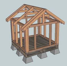Plans for a little house, could be a dog house, garden shed ...