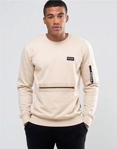 Shop Nicce London Utility Sweatshirt at ASOS. New T Shirt Design, Shirt Print Design, Mens Fashion Wear, Look Fashion, Mens Clothing Guide, Business Casual Attire For Men, Mens Sweatshirts, Hoodies, Pantalon Cargo