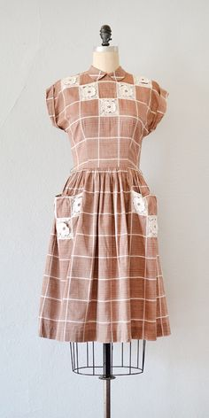 vintage 1940s 1950s dress | Faulcon Hall Dress from Adored Vintage #40s #50s