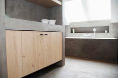 Stoopen&Meeûs Stuc Deco Bathroom. Belgian Tadelakt.
