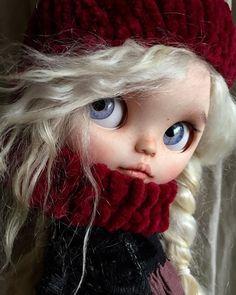 Ooak Dolls, Blythe Dolls, Art Dolls, Pretty Dolls, Beautiful Dolls, Chunky Knitwear, Cute Baby Dolls, Collector Dolls, Custom Dolls