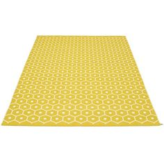 Pappelina Honey Rug ($620) ❤ liked on Polyvore featuring home, rugs, plastic rug, machine washable rugs, woven rugs, woven area rugs and machine wash rugs