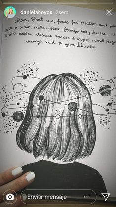 Daniela Hoyos Galaxy mess - The Space Galaxy Drawings, Space Drawings, Cool Art Drawings, Pencil Art Drawings, Easy Drawings, Cute Drawings Tumblr, Girl Drawing Sketches, Art Drawings Sketches, Notebook Sketches