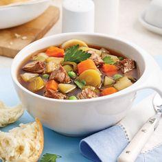 Soupe-repas au boeuf et légumes Fondue, Pot Roast, Food And Drink, Cooking, Ethnic Recipes, Comme, Macaroni, Biscuits, Palette