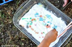 Food Coloring In Baking Soda Craft