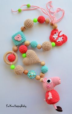 Available/Nursing necklace with amigurumi by ForYourHappyBaby