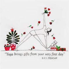 Yoga brings gift from the very first day! #Yoga Art