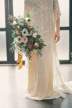 Moody and romantic bouquet: http://www.stylemepretty.com/new-york-weddings/new-york-city/brooklyn/2015/06/05/glamorous-1970s-nyc-wedding-inspiration/ | Photography: Harwell Photography - http://harwellphotography.com/