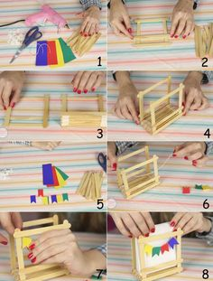 Diy Home Crafts, Fall Crafts, Diy Crafts For Kids, Art For Kids, Arts And Crafts, Popsicle Stick Crafts, Craft Stick Crafts, Preschool Crafts, Paper Crafts