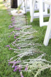 lavender aisle decor.