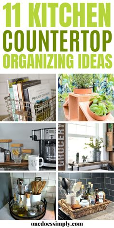 How to organize your kitchen countertops? Take a look at these amazing-looking kitchen countertops organization ideas and try your favorite ideas at home! Learn creative ways to organize things on your kitchen countertops! Diy Organizer, Organizers, Kitchen Countertop Organization, Kitchen Countertops, Beautiful Kitchens, Cool Kitchens, Small Kitchens, Diy Kitchen Remodel, Funky Junk Interiors