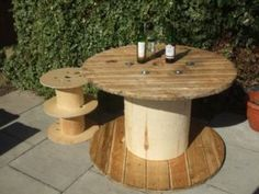 MANCHESTER RUSTIC WOODEN REEL SHABBY CHIC GARDEN TABLE INDUSTRIAL DRUM PUB BEER GARDEN South Manchester Picture 1