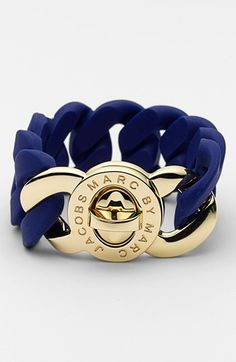 MARC BY MARC JACOBS 'Turnlock - Katie' Stretch Bracelet | Nordstrom #wishlistDanielle  Navy blue!!